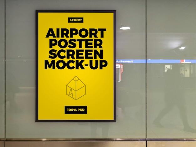 Schermata del poster dell'aeroporto mock-up