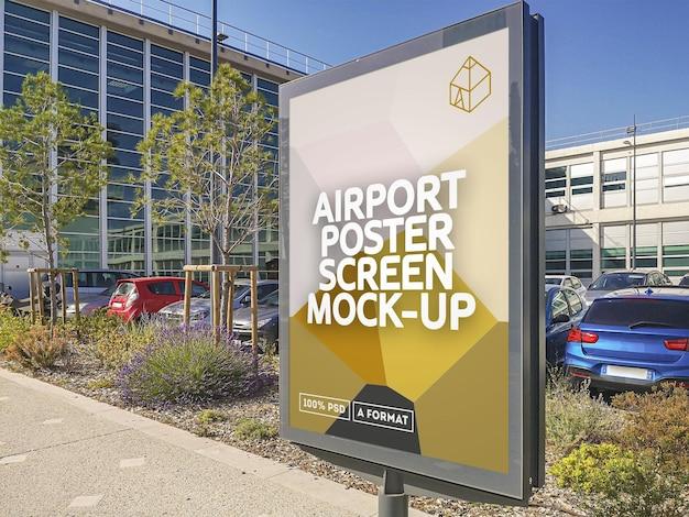 Schermata poster aeroporto