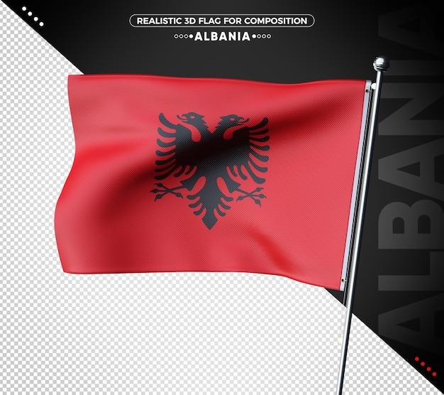 Albania 3d bandiera testurizzata per la composizione