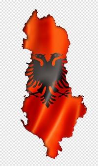 Mappa della bandiera albanese
