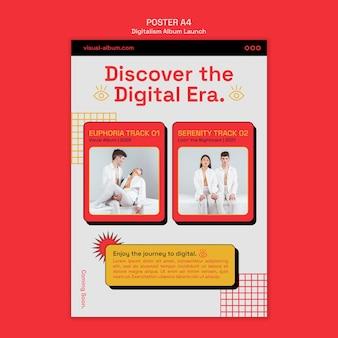 Poster di lancio dell'album con foto