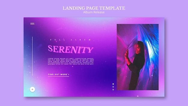 Modello di pagina di destinazione del rilascio dell'album