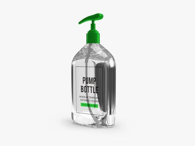 Design mockup bottiglia pompa gel alcol isolato