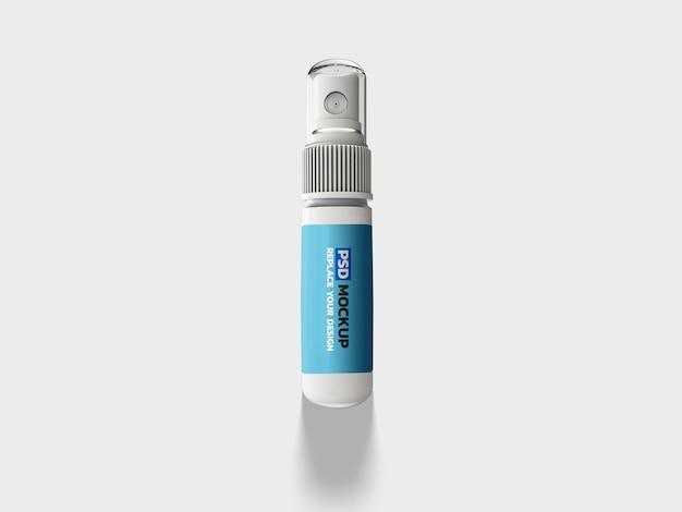 Spray rendering corona virus mockup 3d rendering design Psd Premium