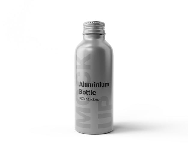 Mockup di bottiglia in alluminio