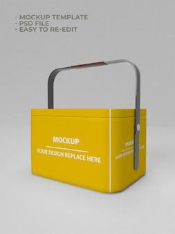 Mockup di contenitore di scatola di alluminio