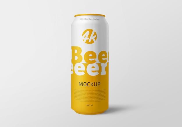Lattina di alluminio con mockup di birra o confezione di soda