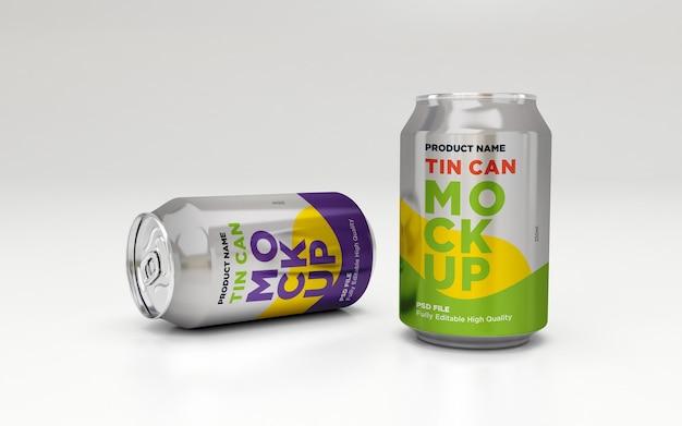 Soda di alluminio può bere bevande psd mockup