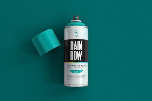 Bomboletta spray in alluminio per mockup di vernice