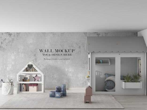 Incredibile design mockup a parete per bambini