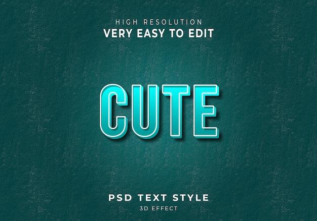 Incredibile stile di testo 3d carino