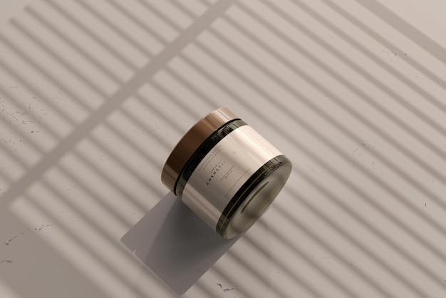Mockup di barattolo cosmetico in vetro ambrato