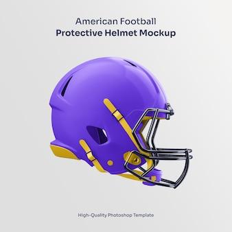 Mockup di casco protettivo per football americano