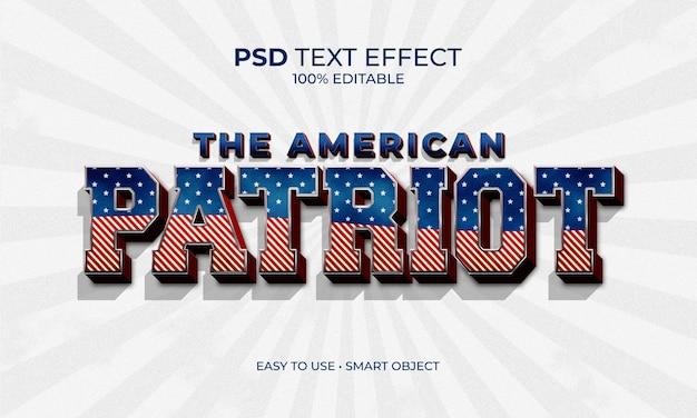 Il patriota americano effetto testo