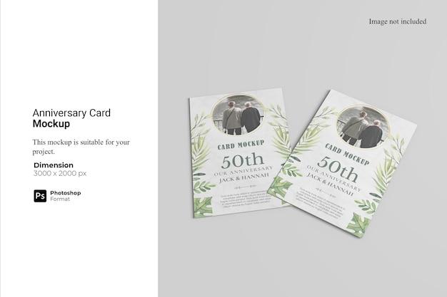Anniversary card mockup design