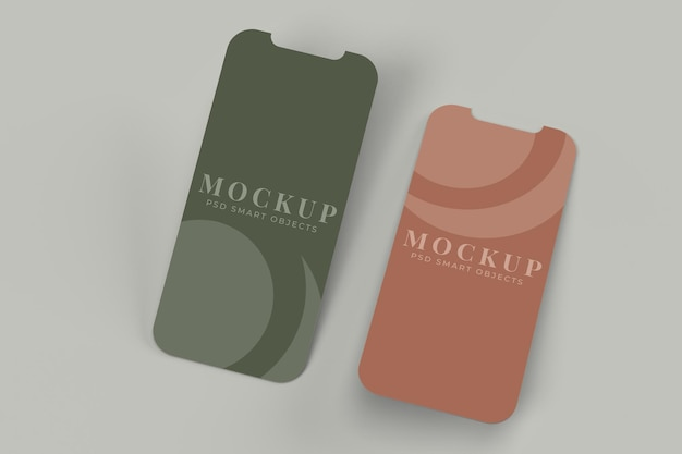 Modello di mockup dello schermo dell'interfaccia dell'app per concetti aziendali di branding di presentazione