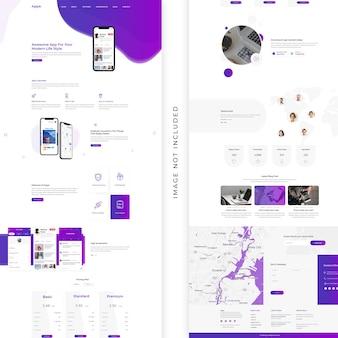 Design della pagina di destinazione dell'app