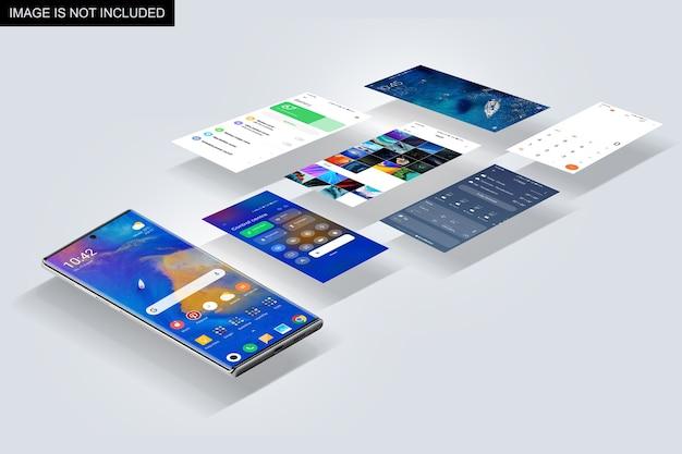 Mockup di presentazione della schermata dell'app