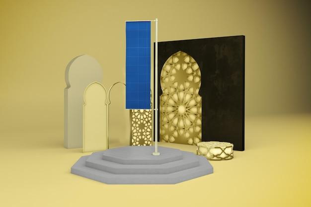 Mockup di bandiera araba