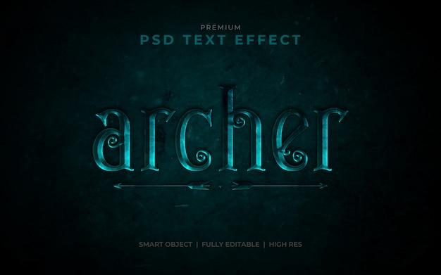 Archer psd text effect mockup