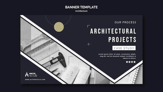 Modello di banner di concetto di architettura Psd Premium