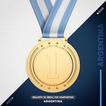 Medaglia d'oro dell'argentina per la composizione