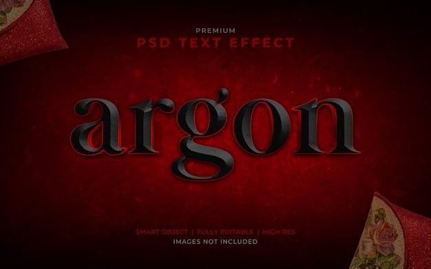 Argon psd mockup effetto testo