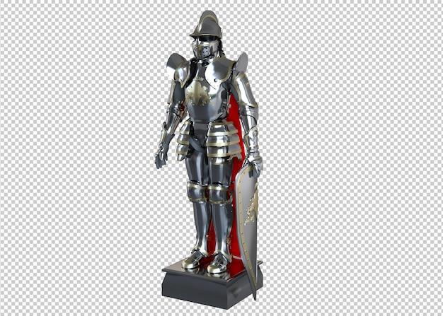 Rendering 3d del cavaliere dell'armatura