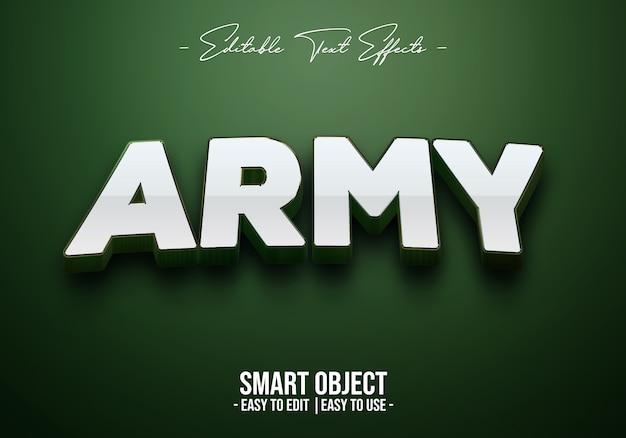 Effetto stile testo esercito