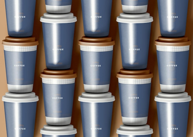 Organizzato take away coffee cup mockup