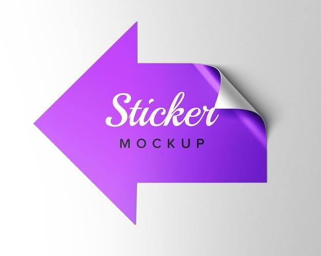 Design mockup adesivo freccia