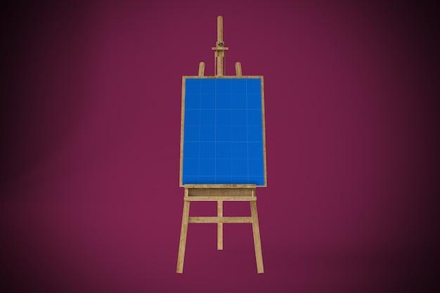 Mockup di tela artistica