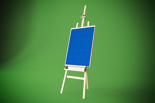 Art canvas in studio