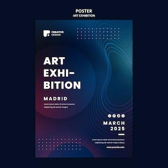 Modello di manifesto per mostra d'arte