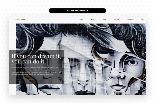 Modello di sito web dell'artista,
