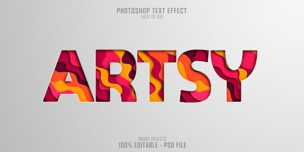 Modello di effetto stile testo artistico
