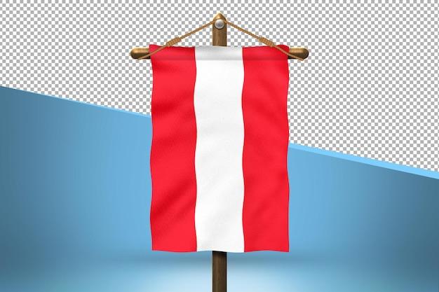 Priorità bassa di disegno della bandiera dell'austria hang