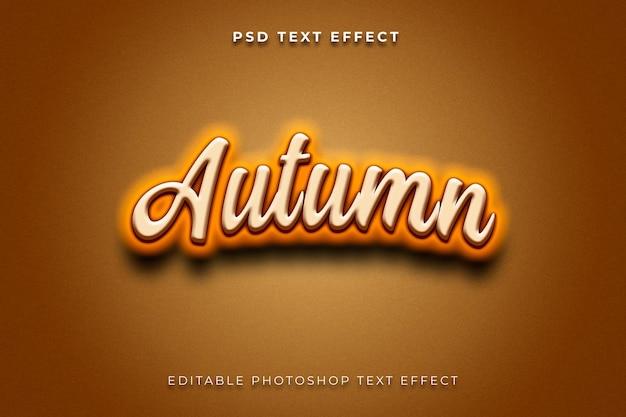 Modello di effetto stile testo autunno 3d