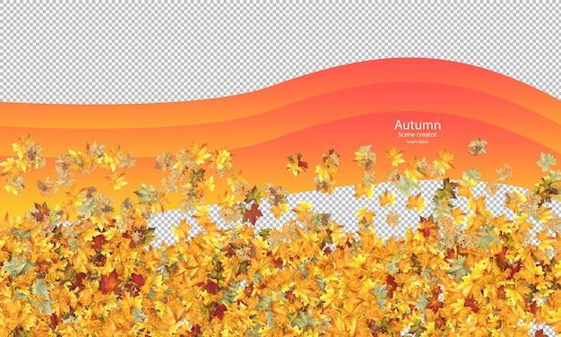 Percorso di ritaglio delle foglie autunnali