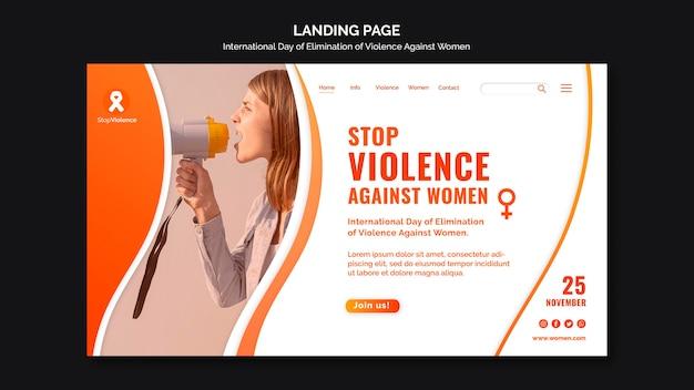 Pagina di destinazione della consapevolezza della violenza contro le donne
