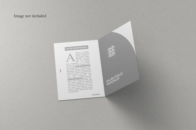 Fantastico mockup a4 bi-fold