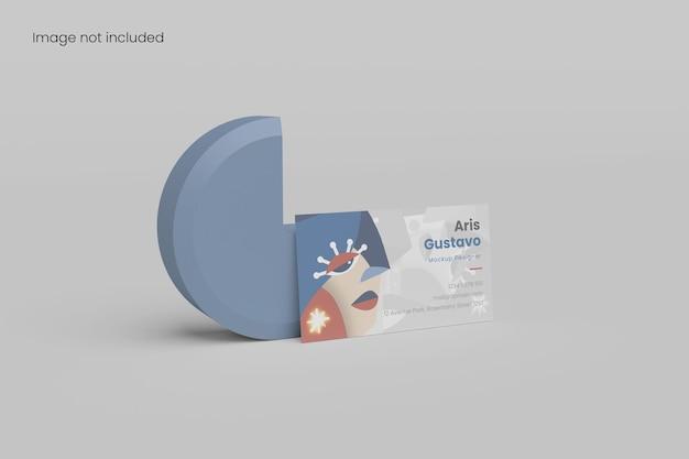 Fantastico modello di biglietto da visita minimalista per il branding del tuo design ai clienti