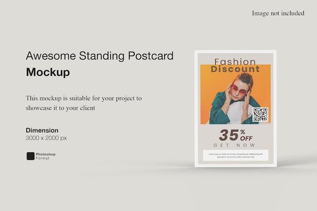 Mockup di cartolina in piedi impressionante
