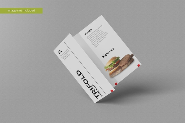 Fantastico mockup di brochure a tre ante