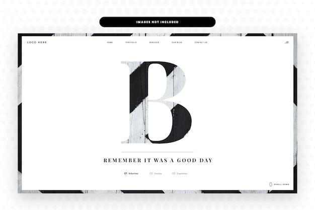 Modello di sito web lettera b.