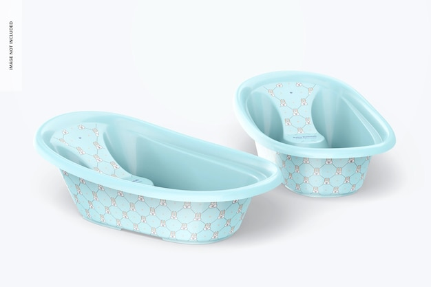 Mockup di vasca da bagno per bambini, galleggiante
