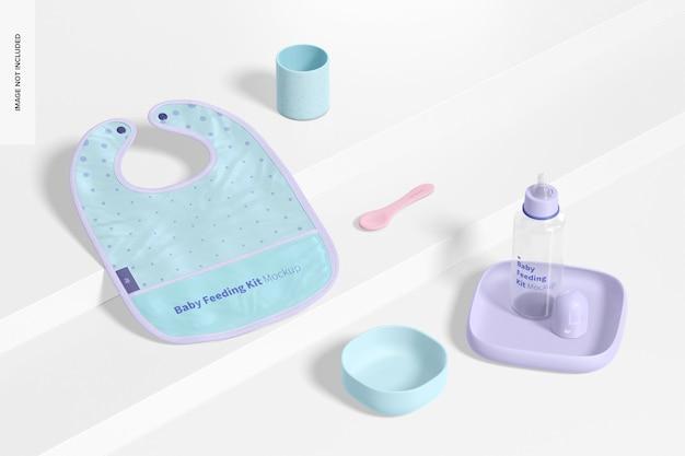 Mockup del kit per l'alimentazione del bambino