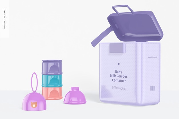 Mockup di scena di contenitori per alimenti per bambini, aperto Psd Premium