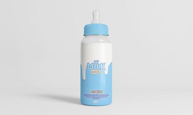 Design mockup di bottiglia di latte per bambini