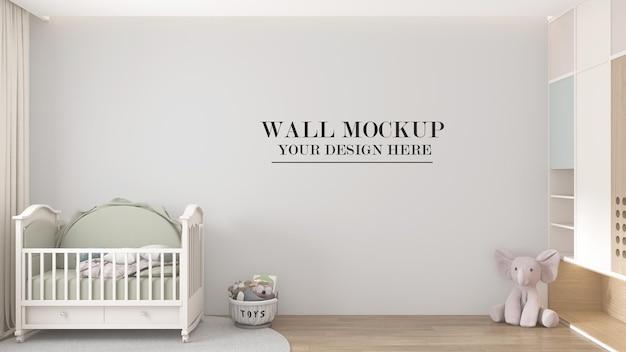 Mockup della parete della stanza del bambino